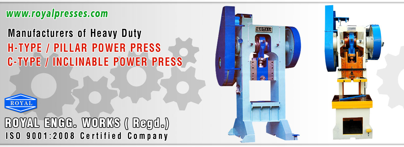 Power Press manufacturers exporters suppliers india punjab ludhiana