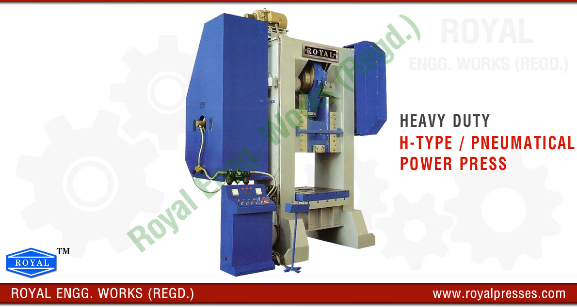 pneumatic power press h frame type hydraulic power press manufacturers exporters suppliers in india punjab ludhiana